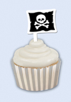 Pirate Themed Cupcake Wrappers and Picks