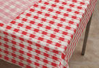 Red Gingham Plastic Table Covers -  Rolls