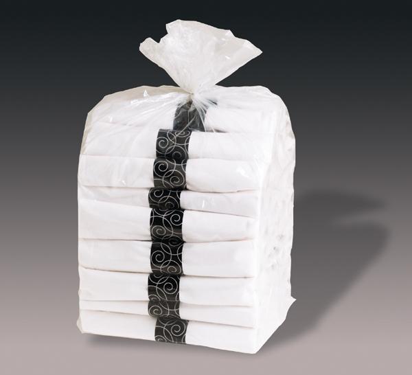 Pre-Rolled Napkins - Black Plasticware - CaterWraps