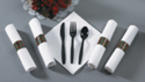 Pre-Rolled Napkins - Plastic Cutlery - Holiday CaterWraps