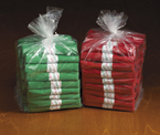 Red and Green CaterWraps - Clear Cutlery