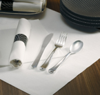 Pre-Rolled White Napkins – Metallic Cutlery – CaterWraps