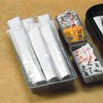 Black Plastic Silveware & Linen Like Napkins Wrapped