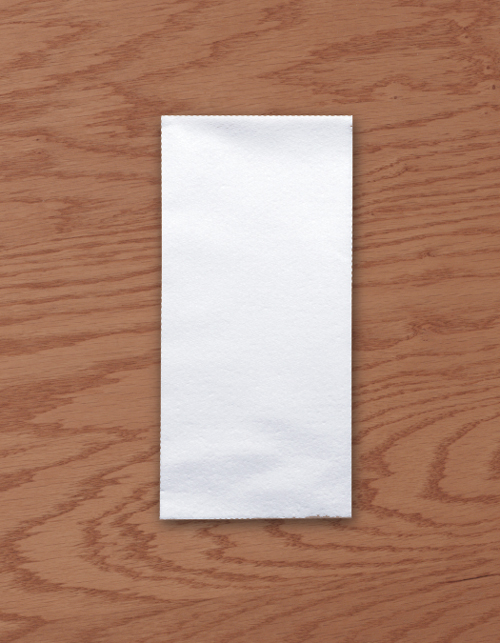 White Linen Like Paper Dinner Napkins - Unembossed