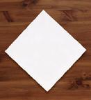 White Linen Like Dinner Napkins - Select Embossing