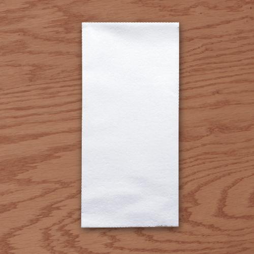 White Linen Like  Dinner Napkins - 17 x 20 Inches