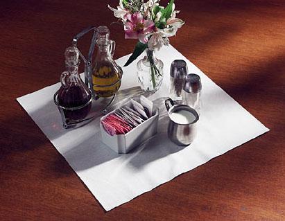 White Linen Like Paper Napkins - Flat Pack
