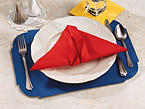 Red Linen Like Paper Napkins - Flat Pack
