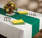 Disposable Paper  Table Runners - Hunter Green Linen Like