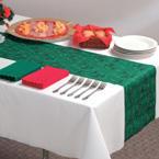 Disposable Christmas Table Runners - Pine Tree Linen Like