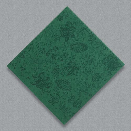 Linen Like Paper Dinner Napkins - Premium Hunter Green Paisley