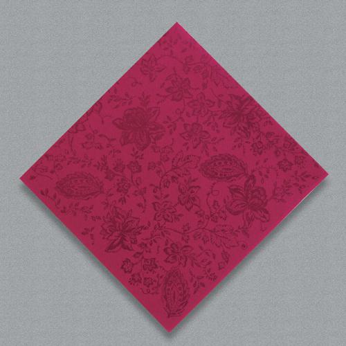 Linen Like Paper Dinner Napkins - Premium Burgundy Paisley