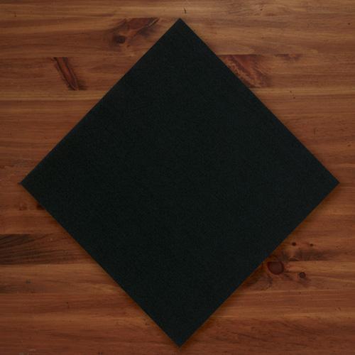 Black Linen Like Dinner Napkins - Flat Pack
