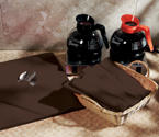 Chocolate Brown Linen Like Napkins - Flat Pack