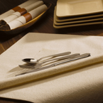 Natural Linen Like Recycled Napkins – Flat Pack