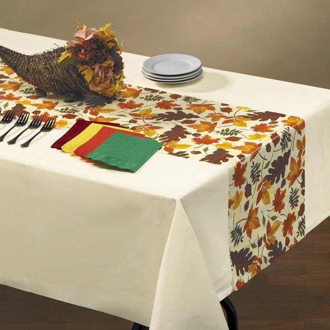 Fall Leaves Disposable Plastic Table Runners
