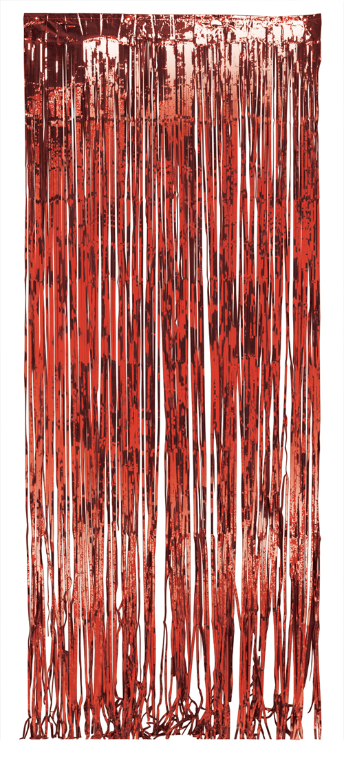 Red Foil Door Curtains