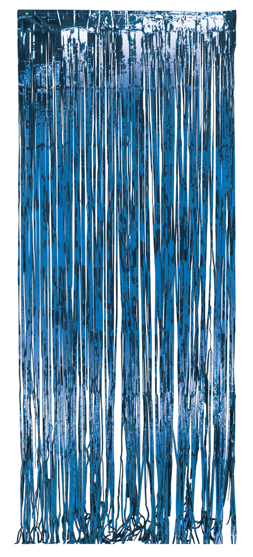 Blue Foil Door Curtains