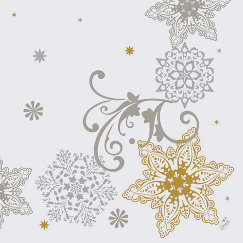 Crystal Snowflake Dunilin Dinner Napkins