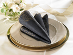 Othello Black Dunilin Paper Dinner Napkins