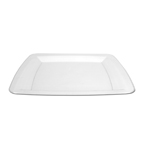 """Clear Square Plastic Dinner Plates - 10.25"""""""