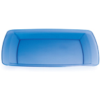 Blue Square Plastic Dinner Plates - 10.25""