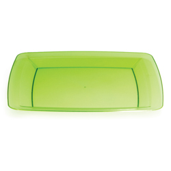 Green Square Plastic Dinner Plates - 10.25 Inches