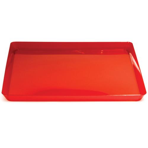 "Red Square Plastic Trays - 11.5"""