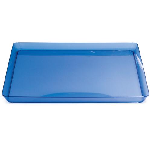 "Blue Square Plastic Trays - 11.5"""