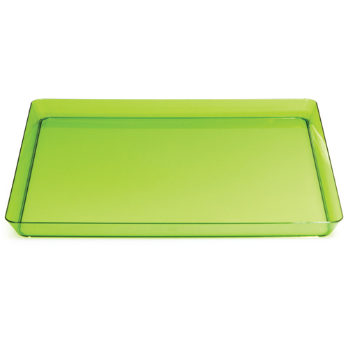 Green Square Plastic Serving Trays - 11.5 Inches