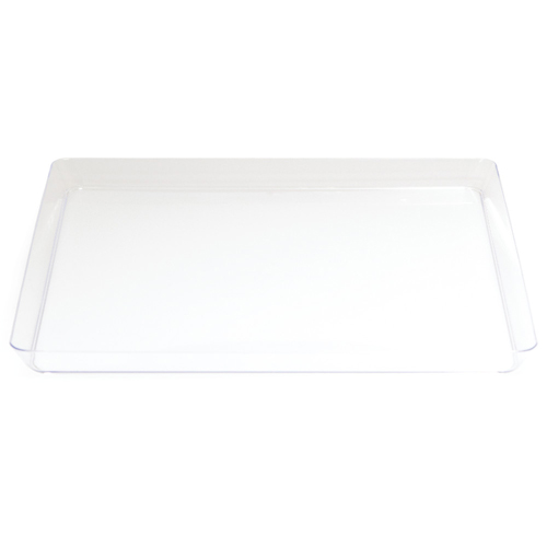 Square Clear Plastic Serving Trays - 11.5 Inches