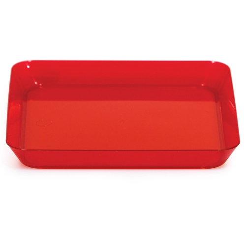 """Red Plastic Square Appetizer Plates - 5"""""""