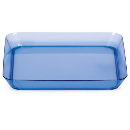 Blue Square Appetizer Plastic Plates - 5 Inches