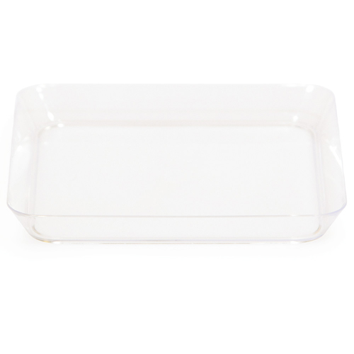 Clear Square Appetizer Plates - 5 Inches