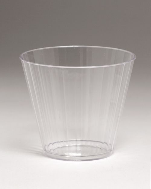 Clear Plastic Tumblers - Fluted