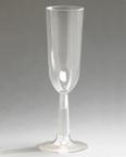 Clear Plastic  Champagne Glasses - Flutes
