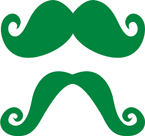 Green Paper Moustaches