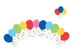 Balloons Cupcake Pick and Wrap Sets