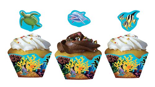 Ocean Party Cupcake Wrappers & Picks