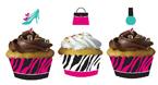 Pink Zebra Cupcake Wrappers & Picks