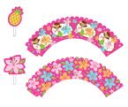 Luau Fun Cupcake Wrappers & Picks
