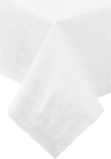 White Plastic Lined Paper Tablecloths -  82 Inch