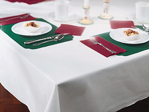 White  Linen Like Paper Tablecloths - 50 x 54 Inch