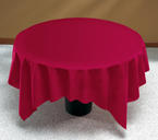 Burgundy Linen Like Paper Table Covers  - 82 Inch