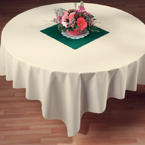 Ivory Linen Like Paper Table Covers - 82 Inch