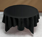 Black Linen Like Paper Table Covers  - 82 Inch
