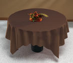 Chocolate Brown Linen Like Paper Table Covers - 82 Inch