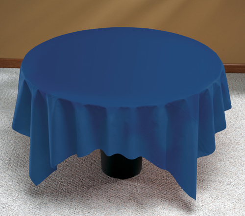 Navy Blue Linen Like Paper Table Covers - 82 Inch