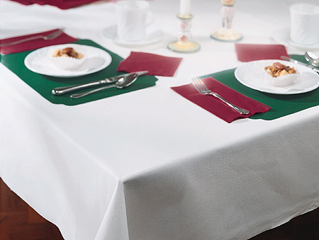 White Linen Like Paper Banquet Table Covers - 24 Count