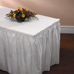 White Linen Like Table Skirts - 14 Feet x 29 Inches